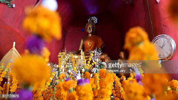 Flower with gold buddha Asia