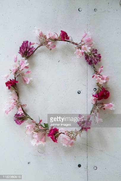 flower wreath - midsommar stock pictures, royalty-free photos & images
