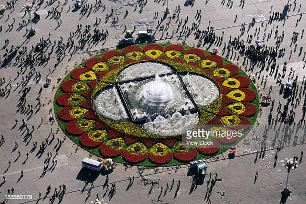 Flowerbed In Tiananmen Square,Beijing,China