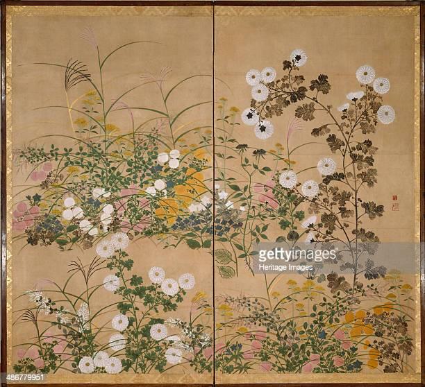 Flowering Plants in Autumn 18th century Artist Korin Ogata
