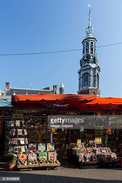 Flowermarket on Singel gracht and Vijzelgracht