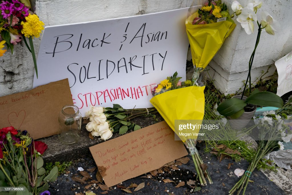 March In Solidarity With Asian Community Held In Atlanta, After Tuesday Night's Massage Parlor Killings : News Photo