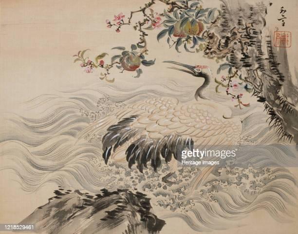 Flowers and Birds, 19th century. Meiji period. Artist Taki Katei.