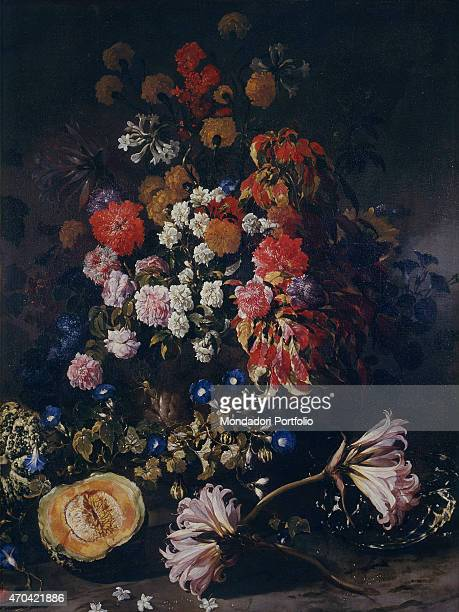 'Flowers and Crystal Cup by Paolo Porpora c 1655 17th Century oil on canvas 148 x 114 cm Italy Campania Naples National Museum of Capodimonte 2nd...