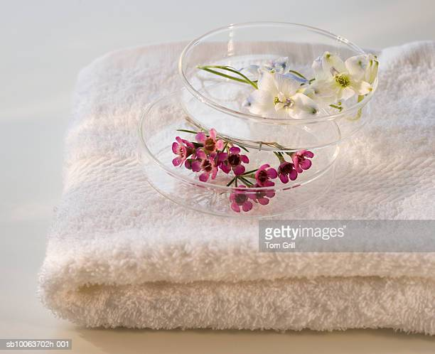 Flowers and towels