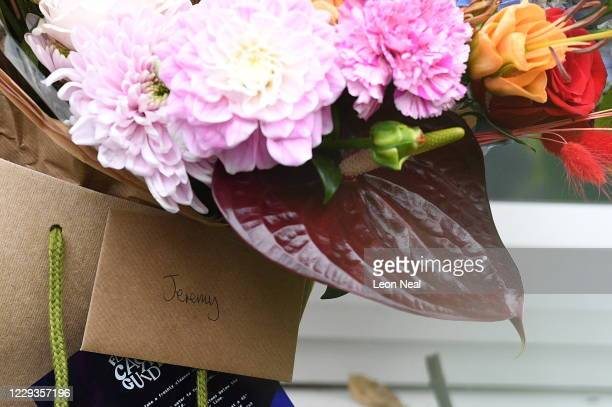 Flowers are delivered to the home of former Labour party leader Jeremy Corbyn on October 30, 2020 in London, England. Yesterday, the Equality and...