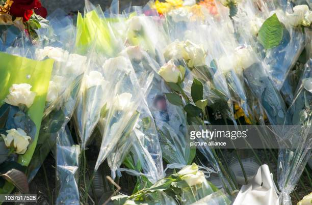 Flowers are placed around a memorial stele for the victims of Germanwings flight 4U 9525 in La Vernet France 27 March 2015 A Germanwings Airbus A320...