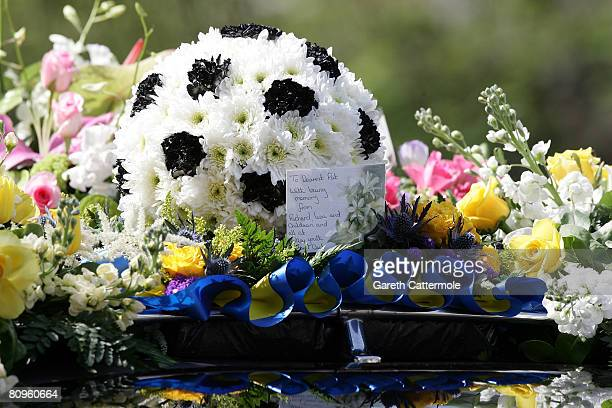 Flowers are seen at the funeral of Frank Lampards mother Pat at St Margarets Church on May 2 2008 in Barking England