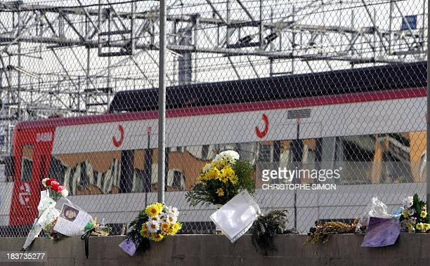 Flowers are seen near Atocha's railway station in Madrid 09 March 2005 two days before the anniversary of last year's train bombings in Madrid...