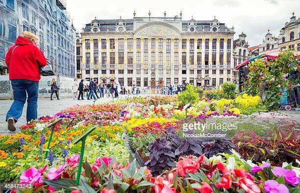 Fleurs sur la Grand-Place de Bruxelles
