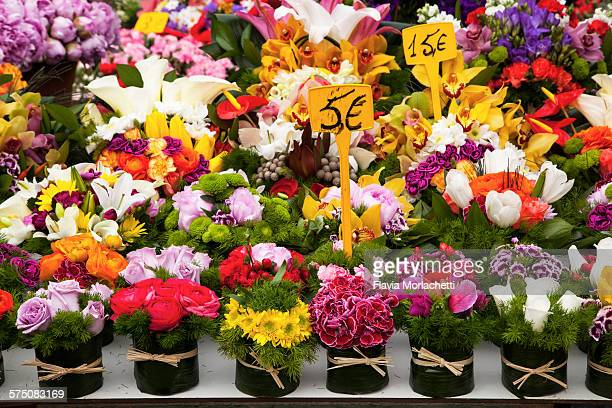 Flowers for sale at street market
