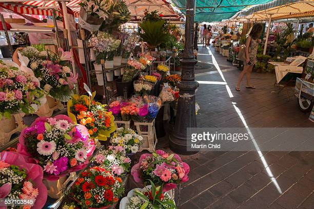 Flowers for sale in Nice flower market