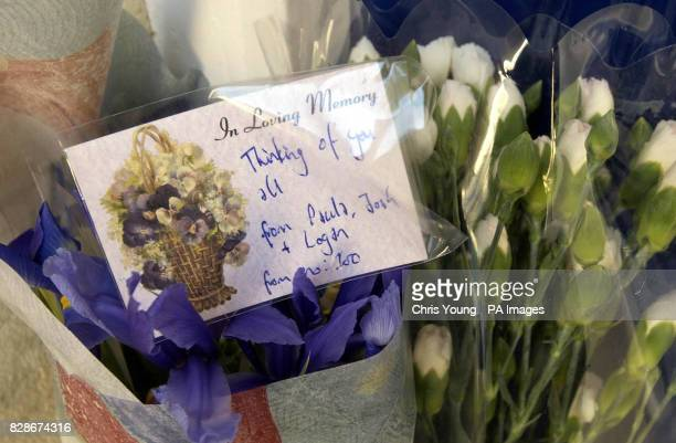 Flowers from neighbours and well wishers are left outside the Brighton home of Malcom Sentance Mr Sentance was the boyfriend of the murdered teacher...