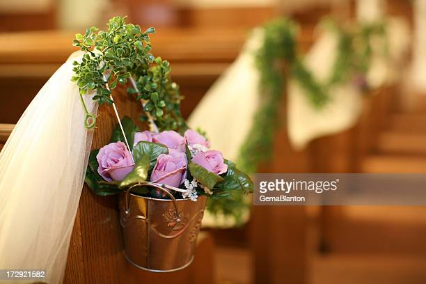 flowers in a church - church wedding decorations stock pictures, royalty-free photos & images