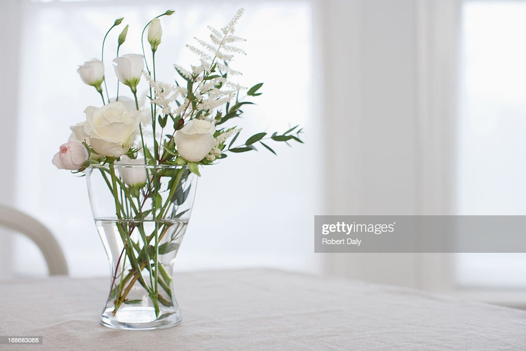 Flowers In Vase On Table Stock Photo Getty Images