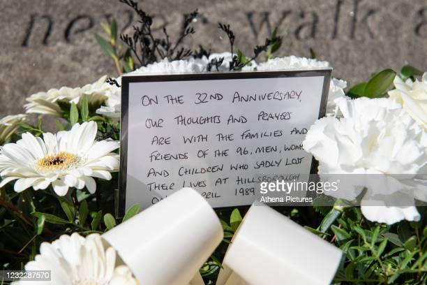 Flowers laid by Julian Winter Chief Executive of Swansea City prior to the Sky Bet Championship match between Sheffield Wednesday and Swansea City at...