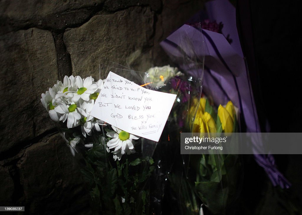 Flowers lay in tribute outside Elmfield Park, Doncaster, following the death of a 13-year-old girl on February 15, 2012 in Doncaster, England. Police investigating the murder are questioning a 26year-old woman which remains in police custody.