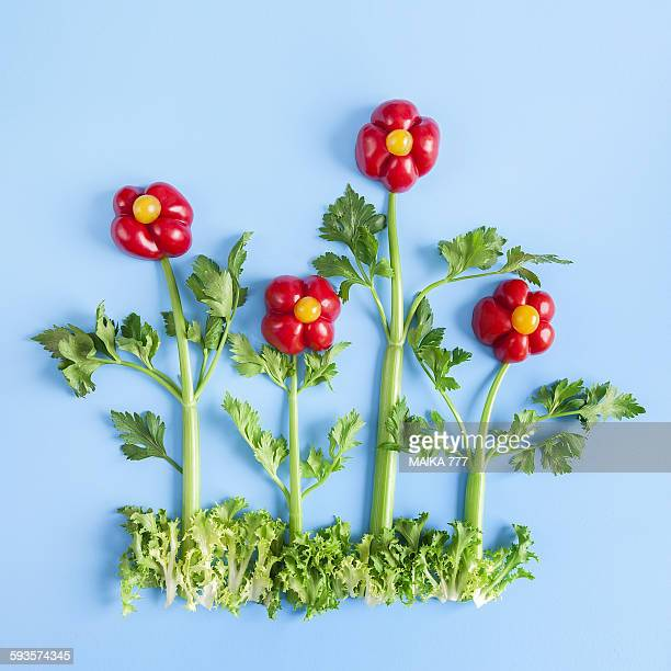 Flowers made with peppers