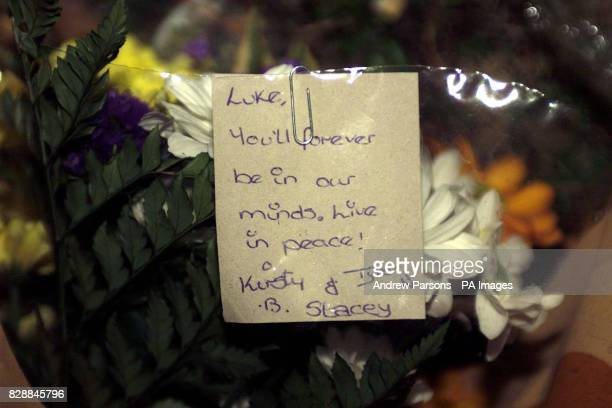 Flowers outside Birkbeck School in North Somercotes near Louth Where a 14yearold schoolboy died today after he was stabbed during a fight at the...