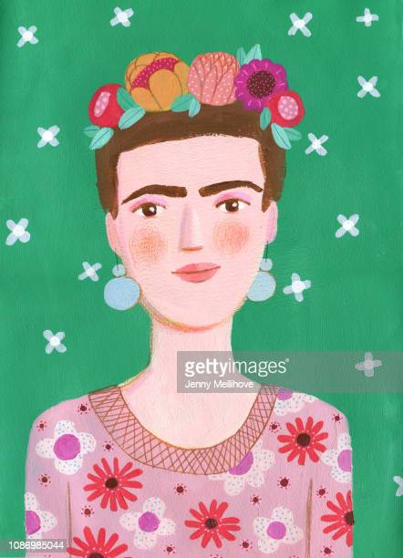 flowers - frida kahlo stock pictures, royalty-free photos & images