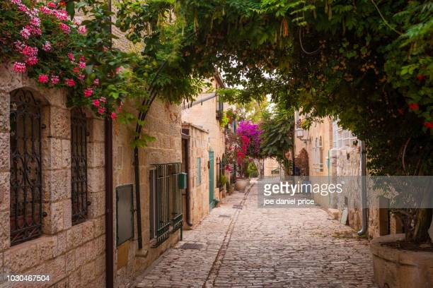flowers, streets, jerusalem, israel - jerusalem old city stock pictures, royalty-free photos & images
