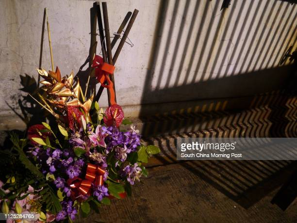 Flowers was abandoned at Sunbeam Theatre's back stage entrance after the last performance by Feng Sheng Hui Theatre Sunbeam Theatre where Feng Sheng...
