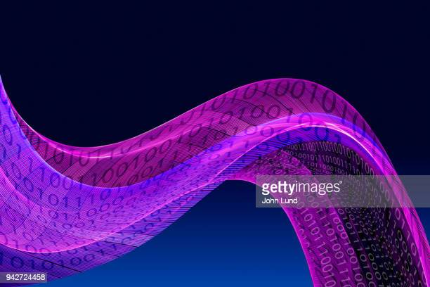 flowing binary numbers - john lund stock pictures, royalty-free photos & images