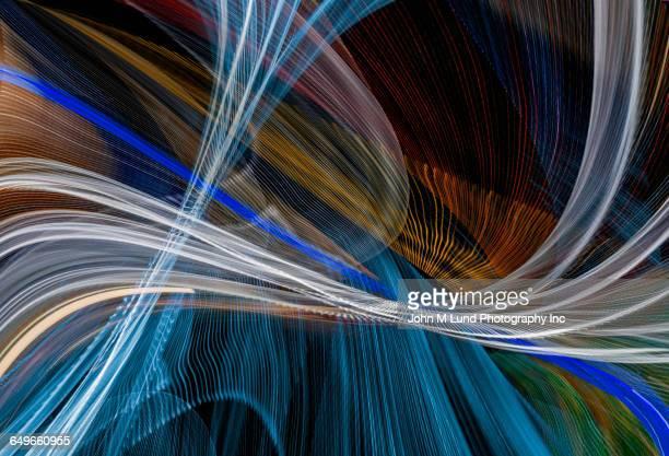 Flowing multicolor intersecting light streams