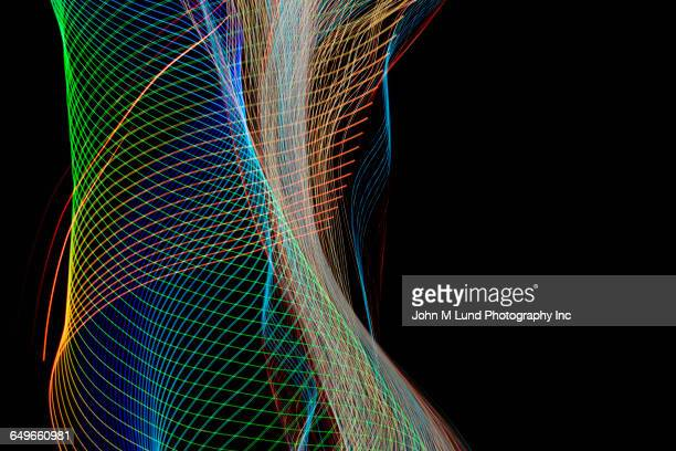 Flowing multicolor light streams