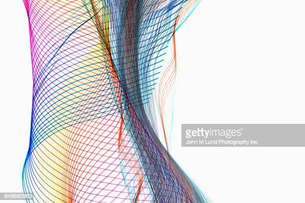 Flowing multicolor light streams