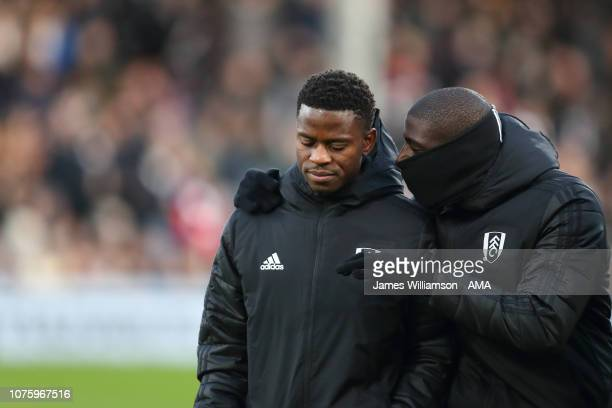 Floyd Ayite and Aboubakar Kamara of Fulham during the Premier League match between Fulham FC and Huddersfield Town at Craven Cottage on December 29...