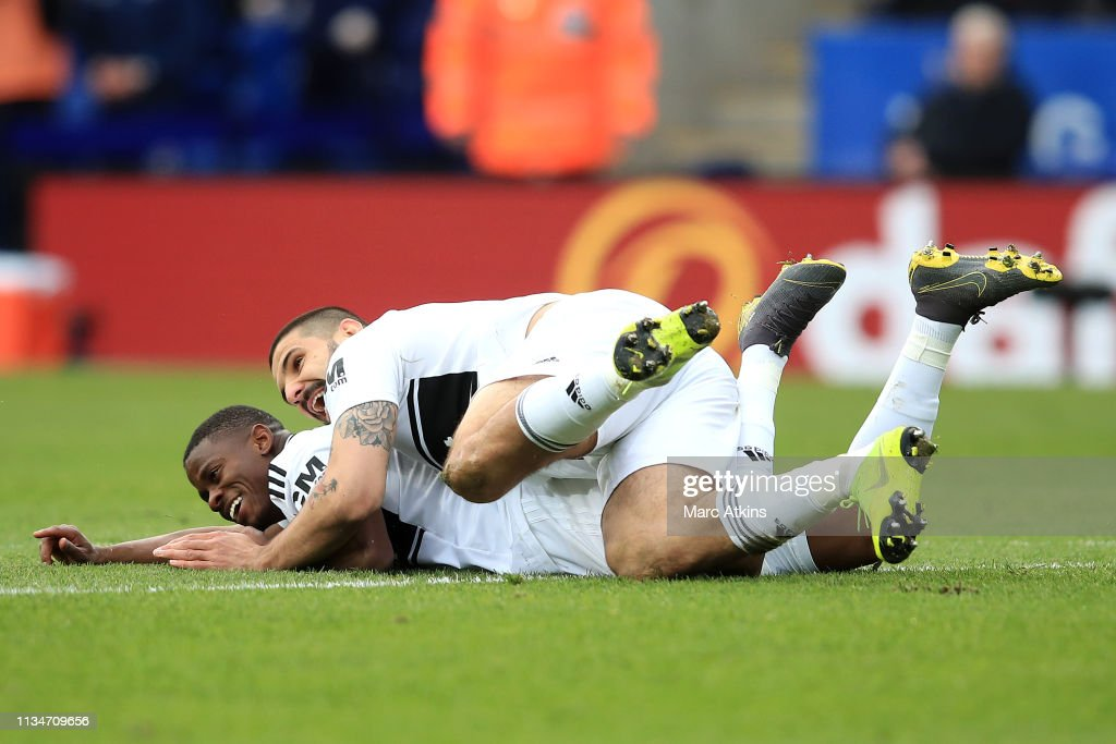 Floyd Ayite of Fulham celebrates after scoring his team's ...