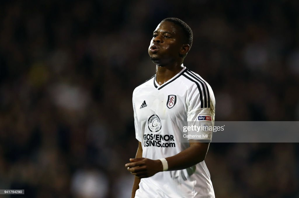 Floyd Ayite of Fulham during the Sky Bet Championship match between Fulham and Leeds United at Craven Cottage on April 3, 2018 in London, England.