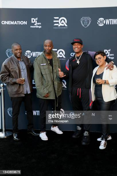 """Floyd """"Flip"""" Wilcox, Kyle Townsend, Begetz and Audrey Montoyaattend The One And Only, Dick Gregory, Album Release Event on September 16, 2021 in..."""