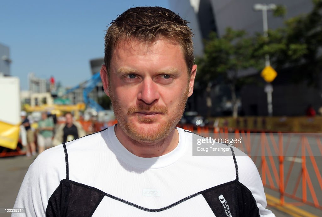 Floyd Landis looks on as he attends Stage Seven of the 2010 Tour of California on May 22, 2010 in Los Angeles, California.