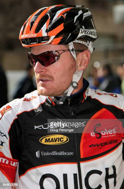 Floyd Landis of the USA and riding for Ouch presented by Maxxis prepares for the prologue of the AMGEN Tour of California on February 14, 2009 in...