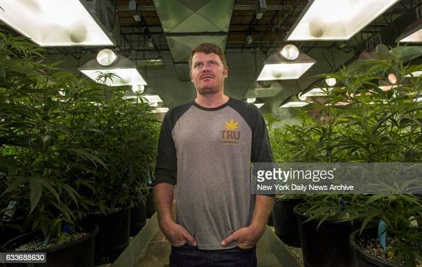 Floyd Landis poses for photos in production lab of TRU Cannabis in Denver Colorado on Wednesday July 15 2016