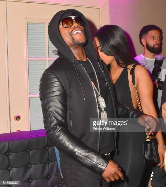 Floyd Mayweather and Ayisha Diaz attend The Rich and Famous All Star Weekend Grand Finale at The Metropolitan on February 20 2017 in New Orleans...