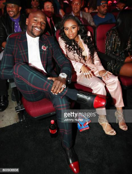 Floyd Mayweather and Iyanna Mayweather at 2017 BET Awards at Microsoft Theater on June 25 2017 in Los Angeles California