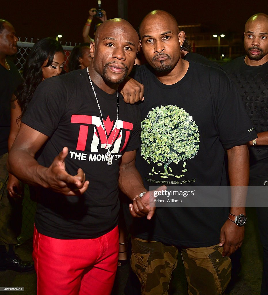 Floyd Mayweather and Mike Gardner attend playhouse on June 29, 2014 in Los Angeles, California.