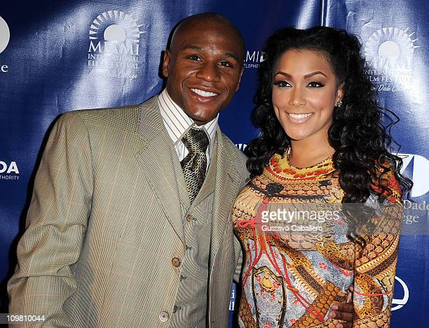 Floyd Mayweather and Shantel Jackson attend the World Premiere of Things Fall Apart at 2011 Miami International Film Festival on March 5 2011 in...