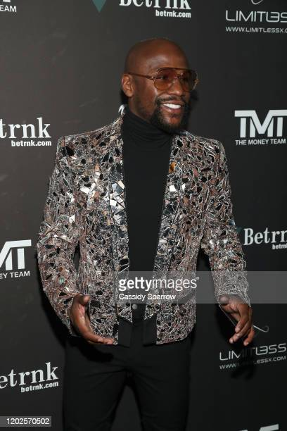 Floyd Mayweather attends his 43rd Birthday Celebration at Sunset Eden on February 21, 2020 in Los Angeles, California.