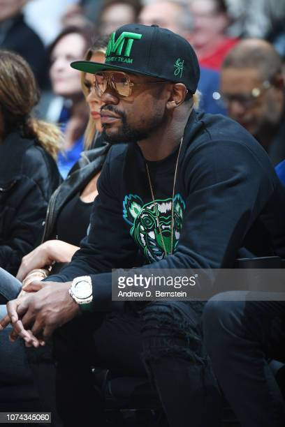 Floyd Mayweather attends the game between the Portland Trail Blazers and LA Clippers on December 17 2018 at STAPLES Center in Los Angeles California...