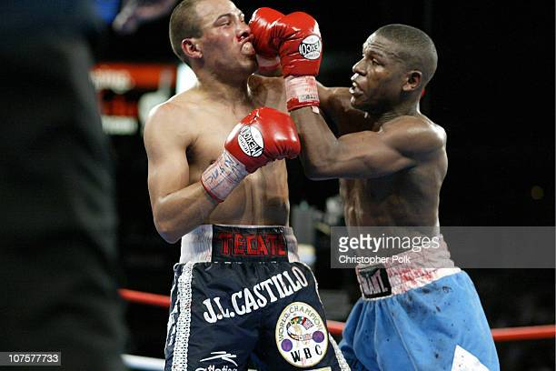 Floyd Mayweather fights Jose Luis Castillo of Mexico during their WBC lightweight fight at Mandalay Bay Resort in Las Vegas on Saturday Dec 7 2002