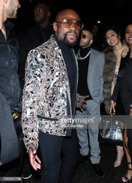 Floyd Mayweather is seen on February 22, 2020 in Los Angeles, California.