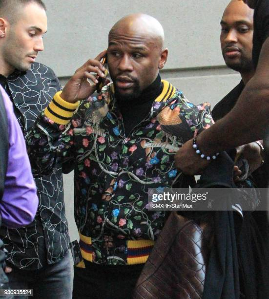 Floyd Mayweather is seen on March 11 2018 in Los Angeles CA