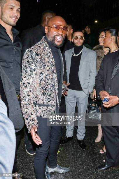 Floyd Mayweather Jr. Is seen on February 22, 2020 in Los Angeles, California.