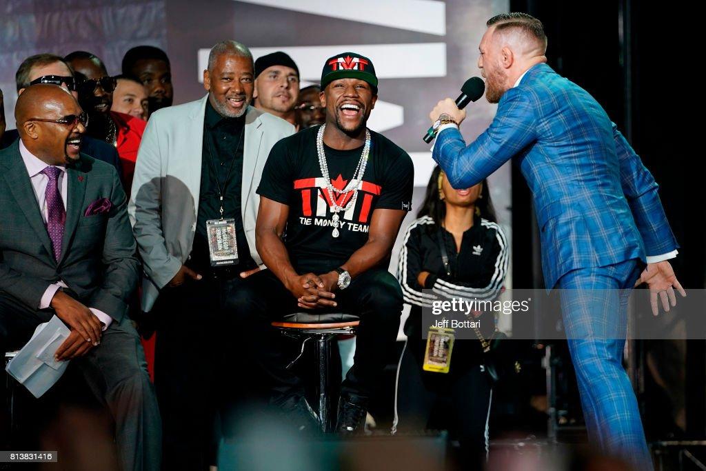 Floyd Mayweather Jr. v Conor McGregor World Press Tour - Toronto : News Photo