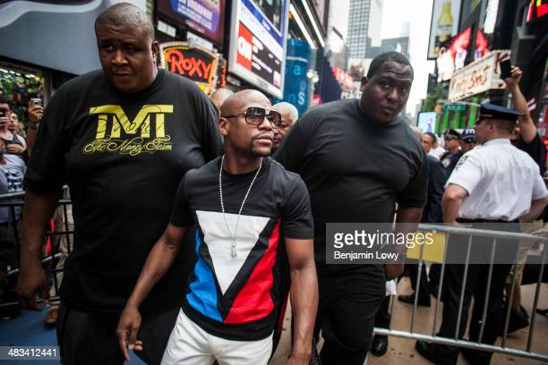 Floyd Mayweather on June 24 in New York City NY to promote his fight with Saul Alvarez a Mexican boxer known as El Canelo