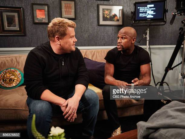Floyd Mayweather performs in a sketch with James Corden during 'The Late Late Show with James Corden' Wednesday August 16 2017 On the CBS Television...